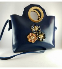 BLUE FLOWER DESIGN WITH HANDLE AND LONG STRIP