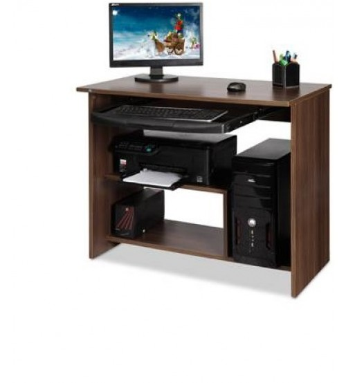 Computer Table With Key Board, Pre-Laminated Particle Board, Color Wenge