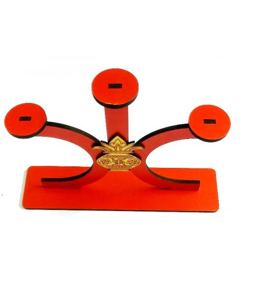 Decorative Triangular Decorative Diya Stand, Deepawali Product, Decorative Product, Art Decor, Festival Product, Made of MDF,CNC cutting