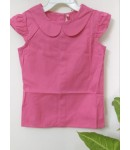 Girl  Plain Sleeveless Cotton Frock, Dress For Girl Kids, Children Wear, Color: Pink, 100% Cotton, Age 3 To 4 Years.