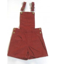 Romper, Dungaree, Kid Girls Wear, Coderize, Plain Maroon Color, 100% Cotton, Age 7 To 8 years