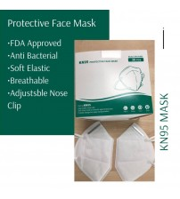 KN95 Protective Face Mask, 5 Layer Protection Mask, 95% Bacterial Filtration Efficiency, FDA Approved, White Color