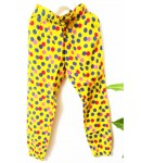 Pyjama, Rayon Finish, Full Length, Kids Girl Bottom, Children Wear, Summer Wear, Polka Dots, Color Yellow, 100% Rayon, Ages: (4 To 5 years) and (6 To 7 Years)