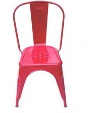 Designer Cafeteria Chair Made Of Metal Frame, With Powder Coated Finish, Without Arm, Color Red, Warranty: 12 Months