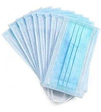 Surgical Face Mask, 3PLY, Disposable, Anti pollution / Dust / Air filter, Blue, Standard, (Pack of 100 Piece Per Box), High Quality