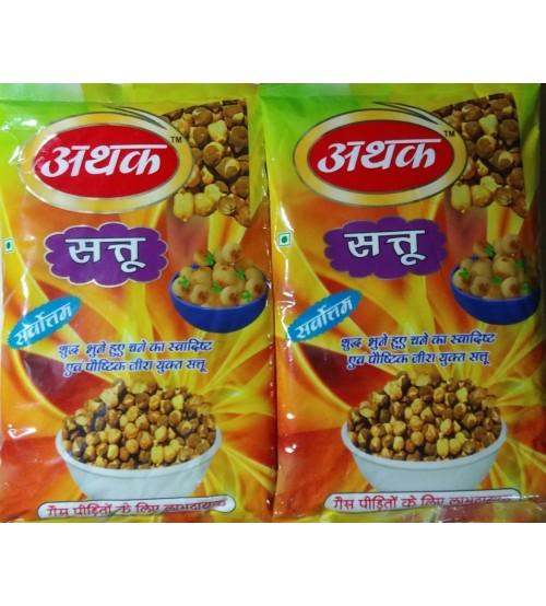 Sattu, Athak Plain Sattu, 1 KG (Pack of 500 Gram X 2)