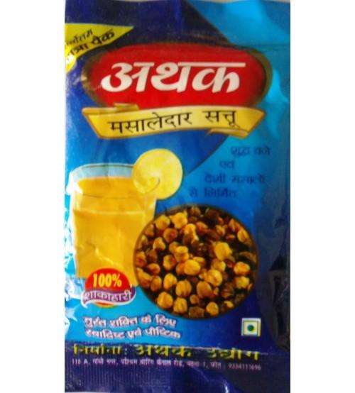 Sattu, Athak Masaledar Sattu, 450 Gram, Traveling Pack (Pack of 45 Gram X 10)