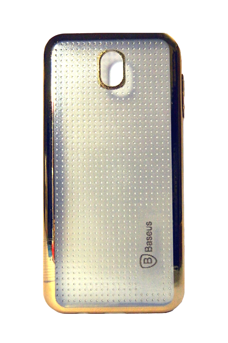 wholesale dealer c0081 478cc Samsung J7 Pro Mobile Phone Back Cover, Transparent with Gold ...